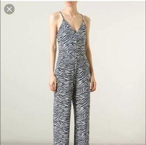 NWT Michael Kors Zebra print pant jumpsuit, Large